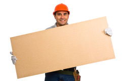 Isolated manual worker Royalty Free Stock Images