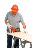 Isolated manual worker Stock Images