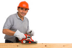 Isolated manual worker Royalty Free Stock Photos