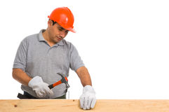 Isolated manual worker Royalty Free Stock Photography