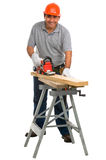 Isolated manual worker Royalty Free Stock Photo