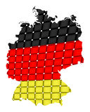 Isolated map of germany 09 Stock Photography