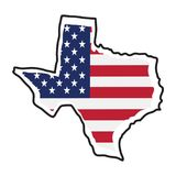 Isolated map of the state of Texas. Vector illustration design Stock Photos