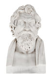 Isolated marble bust of Antisthens - greek philosopher. royalty free stock photo