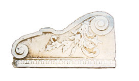 Isolated Marble decoration. From the 14th Century castle on the greek island of Kos Stock Photos