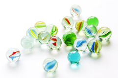 Isolated Marbles Royalty Free Stock Photography