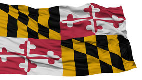 Isolated Maryland Flag, USA state Stock Images