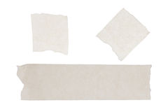 Isolated of masking tape sticky on white paper background. The isolated of masking tape sticky on white paper background Royalty Free Stock Images