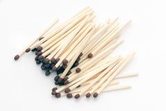 Isolated matches (macro shot) Stock Images