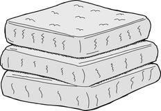 Isolated Mattresses vector illustration