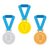Isolated medal on the white background. Stock Photo