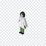 Isolated Medic Isometric. Doctor Vector Element Can Be Used For Doctor, Medic, Nurse Design Concept. Doctor Vector Element Can Be Used For Doctor, Medic, Nurse Stock Images