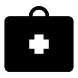 Isolated medical briefcase icon Royalty Free Stock Photo