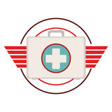 Isolated medical kit design Stock Images