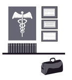 Isolated Medical Symbols Stock Photos