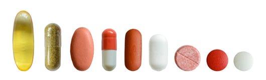 Isolated Medicine Set Stock Image