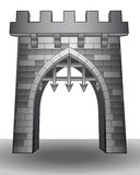 Isolated medieval castle gate on ground vector Royalty Free Stock Image