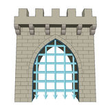 Isolated medieval closed gate vector Royalty Free Stock Photography