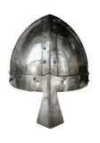 Isolated Medieval Viking Helmet. Isolated Viking Style Medieval Suite Of Armour Helmet With Nose Protector On White Background Royalty Free Stock Images