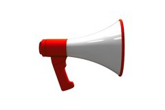 Isolated megaphone Stock Photography