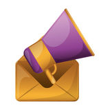 Isolated megaphone design Royalty Free Stock Photo