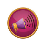Isolated megaphone design Stock Photography