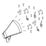 Isolated megaphone design Stock Image