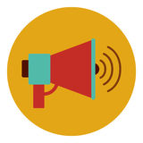 Isolated megaphone design Royalty Free Stock Photos