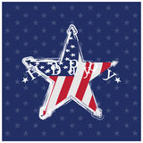 Isolated memorial day background Royalty Free Stock Images