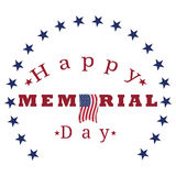 Isolated memorial day label Stock Images