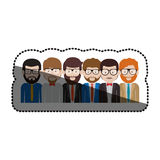 Isolated men with glasses design. Men with glasses icon. Male avatar person people and human theme. Isolated design. Vector illustration Stock Photography