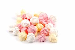 Isolated meringues Royalty Free Stock Images