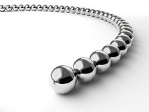 Isolated metal chain Stock Photos