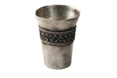 Isolated metal cup Royalty Free Stock Images