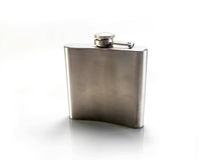 Isolated metal flask Stock Photos