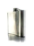 Isolated metal flask Stock Image