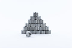 Isolated metal pinions gear Stock Images