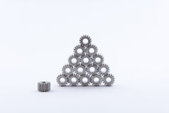 Isolated metal pinions gear Stock Image