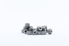Isolated metal pinions gear Royalty Free Stock Photos