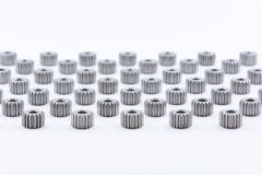 Isolated metal pinions gear Royalty Free Stock Image