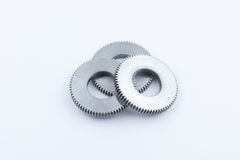 Isolated metal pinions gear Royalty Free Stock Photo