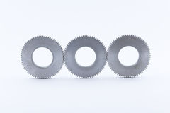 Isolated metal pinions gear Royalty Free Stock Images