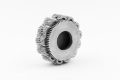 Isolated metal pinions gear Stock Photo