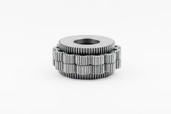 Isolated metal pinions gear Royalty Free Stock Photography