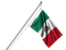 Isolated Mexican Flag Royalty Free Stock Image