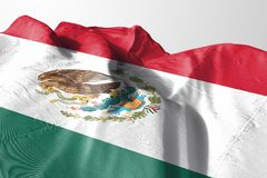 Isolated Mexican Flag waving 3d Realistic Mexican Flag Rendered. High resolution photo royalty free stock image