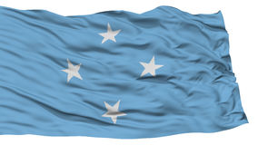 Isolated Micronesia Flag. Waving on White Background, High Resolution Stock Images