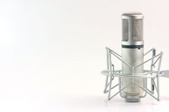 Isolated microphone Stock Image