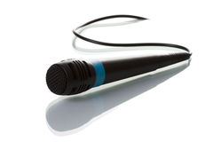 Isolated microphone Stock Images