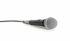 Isolated microphone. Black microphone isolated on white background Royalty Free Stock Images